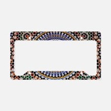moroccan mosaic License Plate Holder