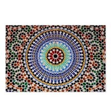 moroccan mosaic Postcards (Package of 8)