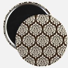 Brown Damask Magnet