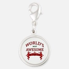 World's Most Awesome 80 Year O Silver Round Charm