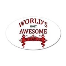 World's Most Awesome 70 Year Wall Decal