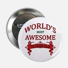 "World's Most Awesome 70 Year Old 2.25"" Button"