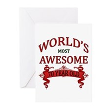 World's Most Awesome 70 Greeting Cards (Pk of 20)