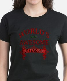 World's Most Awesome 65 Year Tee