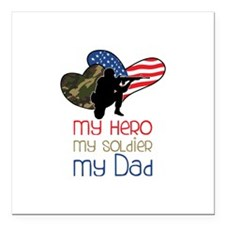 "My Dad Square Car Magnet 3"" x 3"""