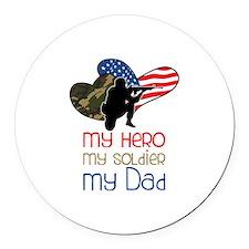 My Dad Round Car Magnet