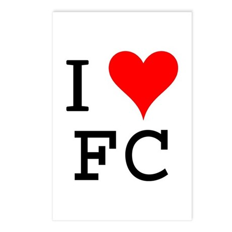 I Love FC Postcards (Package of 8)