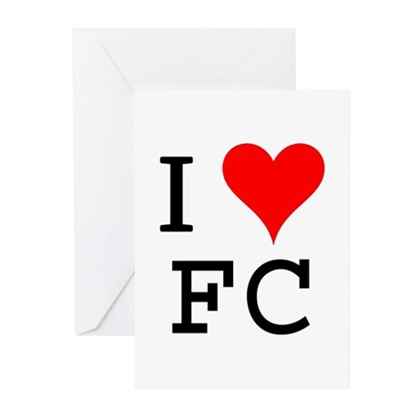 I Love FC Greeting Cards (Pk of 10)