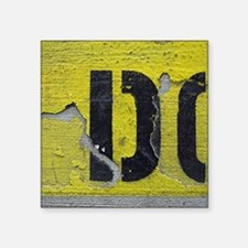 "Letter D Square Sticker 3"" x 3"""