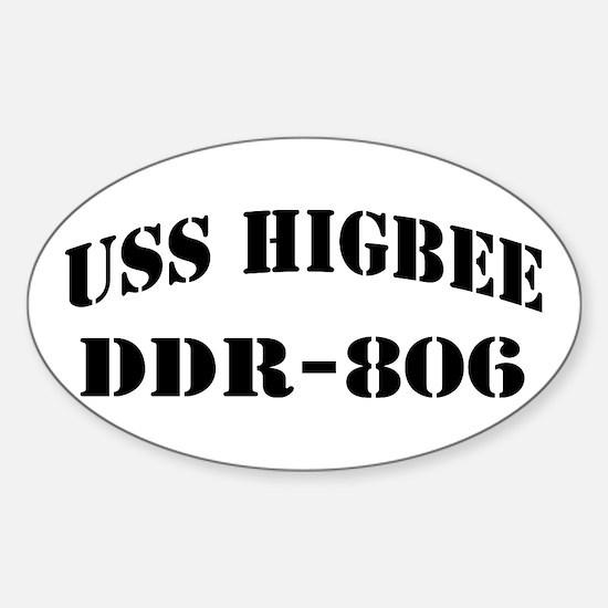 USS HIGBEE Sticker (Oval)
