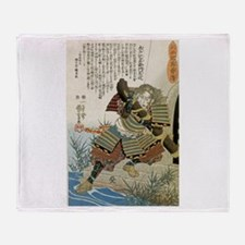 Samurai Kido Sakuzaemon Norishige Throw Blanket