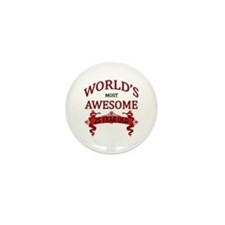 World's Most Awesome 25 Year Mini Button (10 pack)