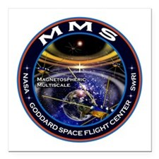 "Magnetospheric Multiscal Square Car Magnet 3"" x 3"""