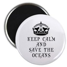 Keep Calm and Save The Oceans Magnet