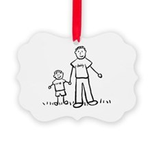 Father and Son Drawing Ornament