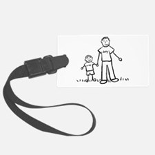 Father and Son Drawing Luggage Tag