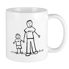 Father and Son Drawing Mugs