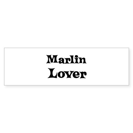 Marlin lover Bumper Sticker