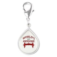 World's Most Awesome 18 Yea Silver Teardrop Charm