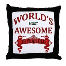 World's Most Awesome 18 Year Old Throw Pillow
