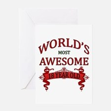 World's Most Awesome 18 Year Old Greeting Card