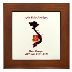 30th Field Artillery Framed Tile