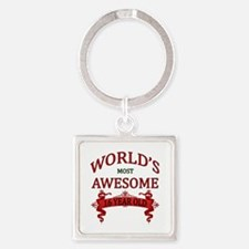 World's Most Awesome 16 Year Old Square Keychain