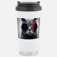 Cool Cat-Galaxy Stainless Steel Travel Mug