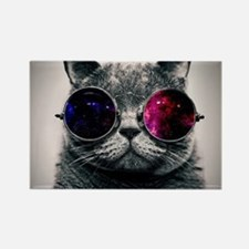 Cool Cat-Galaxy Rectangle Magnet