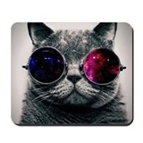 Cool cat galaxy Mouse Pads