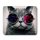 Cool cat galaxy Classic Mousepad