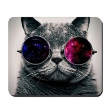 Cool Cat-Galaxy Mousepad