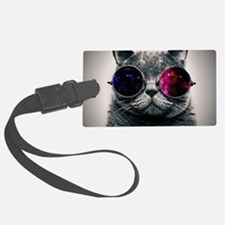 Cool Cat-Galaxy Luggage Tag