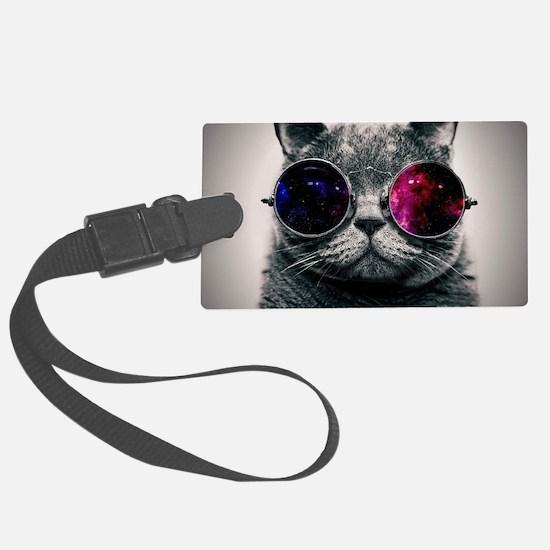 Cool Cat-Galaxy Luggage Tag