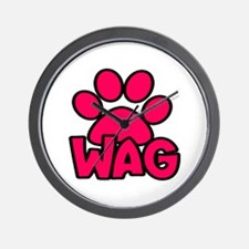 Wag for Dog Lovers - Pink Wall Clock