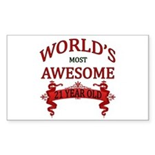 World's Most Awesome 21 Year O Decal