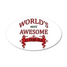 World's Most Awesome 21 Year Wall Decal