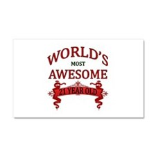 World's Most Awesome 21 Year Ol Car Magnet 20 x 12