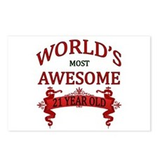 World's Most Awesome 21 Y Postcards (Package of 8)