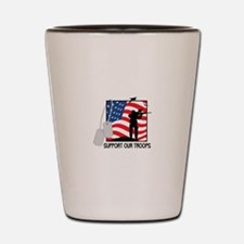Support Our Troops! Shot Glass
