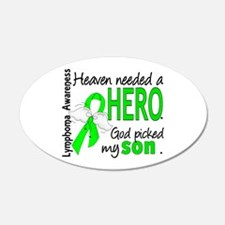 Lymphoma HeavenNeededHero1 Wall Decal