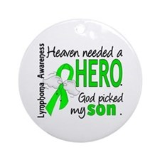 Lymphoma HeavenNeededHero1 Ornament (Round)
