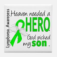 Lymphoma HeavenNeededHero1 Tile Coaster