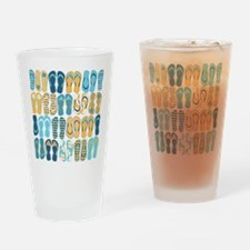 Fun Flip Flops Drinking Glass