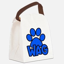 Wag for Dog Lovers - Blue Canvas Lunch Bag