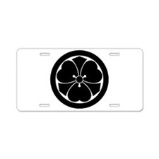 Wood sorrel with swords in Aluminum License Plate