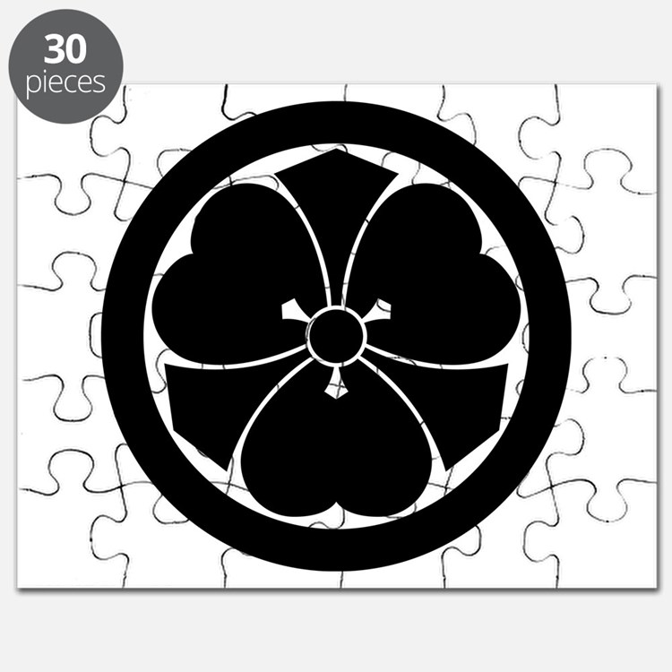 Wood sorrel with swords in circle Puzzle