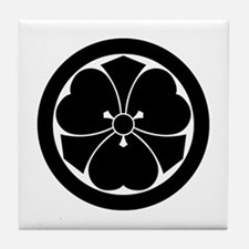 Wood sorrel with swords in circle Tile Coaster