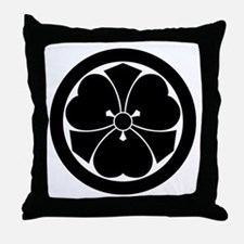 Wood sorrel with swords in circle Throw Pillow