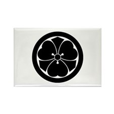 Wood sorrel with swords in circle Rectangle Magnet